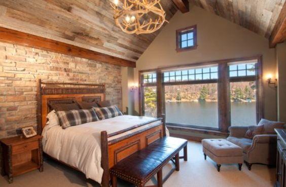 classic brick bedroom