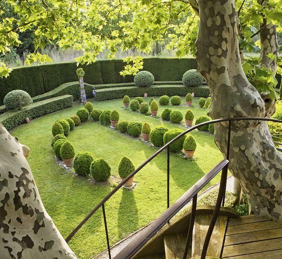 lawn in English garden