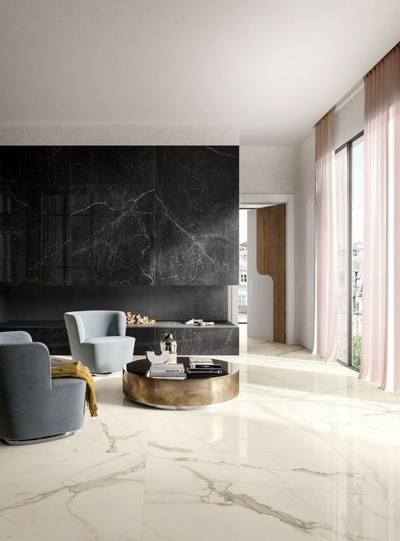 marble flooring for minimalist home
