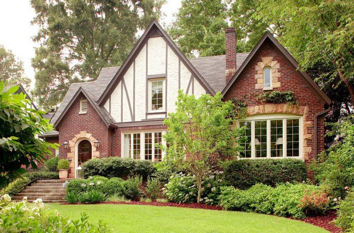 Classic British brick home design