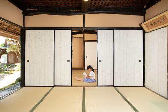 Japanese siding door fusuma