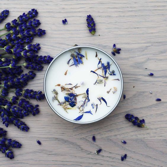 lavender-infused candle for relaxing fragrance