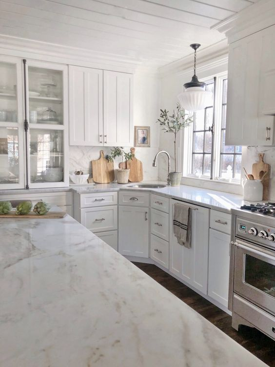 marble cabinets kitchen