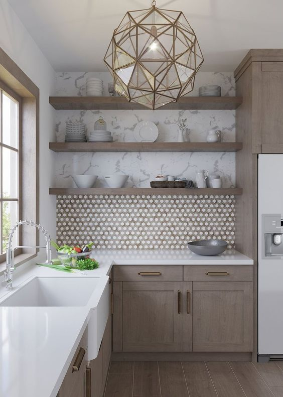 classical marble kitchen
