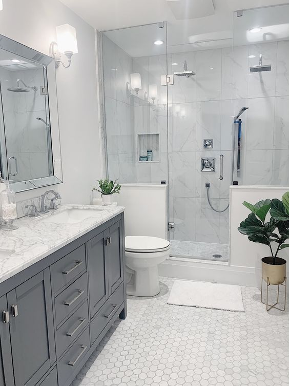 elegant marble bathroom decoration