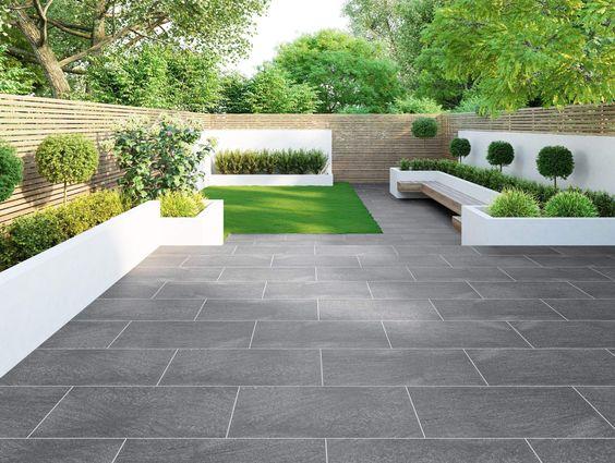 minimalist backyard