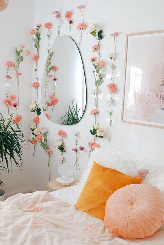 flower decoration for sweet bedroom