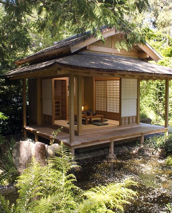 Japanese home design with stilts