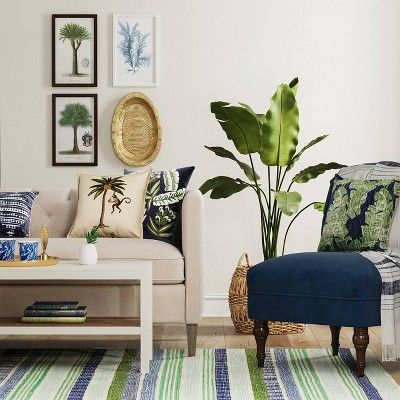 two color tropical living room ideas