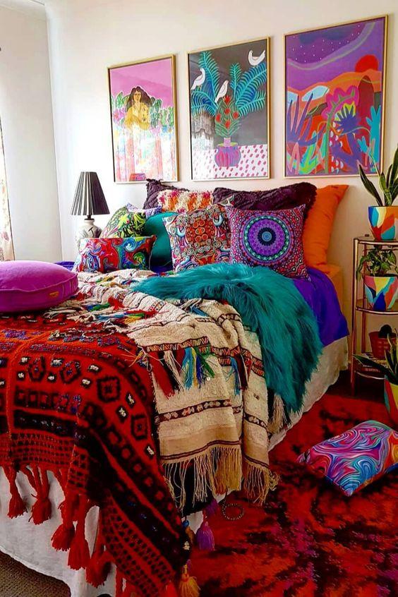 luscious eclectic bedroom design