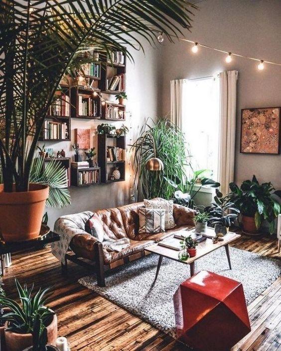 cozy bohemian living room
