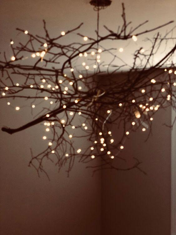 diy branch chandelier for room decor