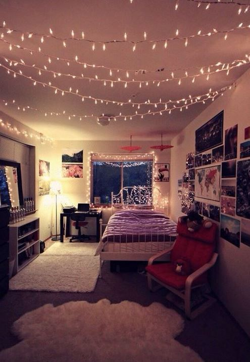 DIY fairy lights to make a cozy and warm bedroom