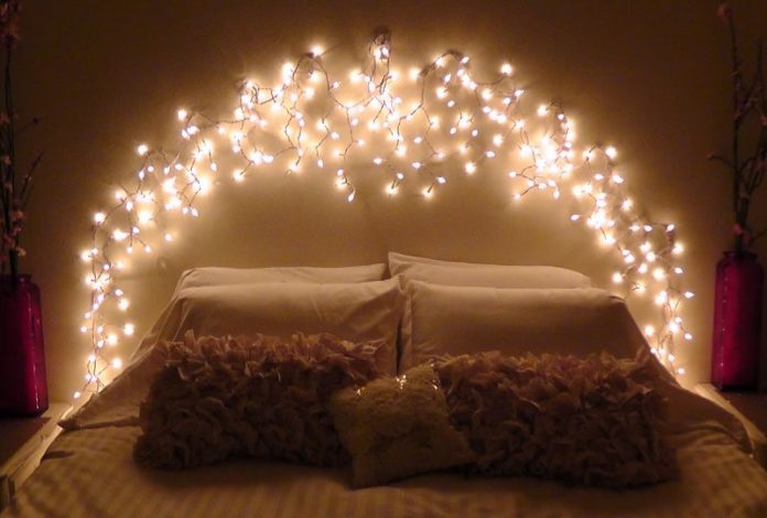 DIY fairy lights bedroom find your own aesthetic room!
