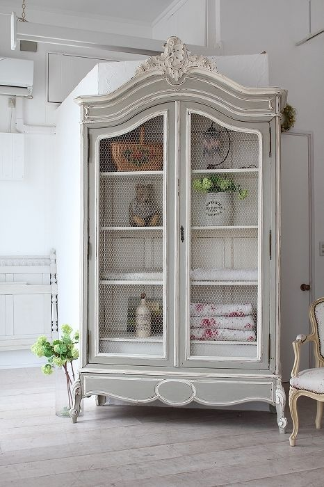 French Armoire for a shabby chic room decor