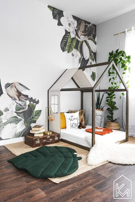 go green bedroom concept for kids