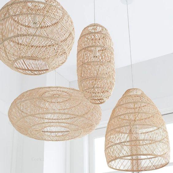 rattan pendant lamp for bohemian living room