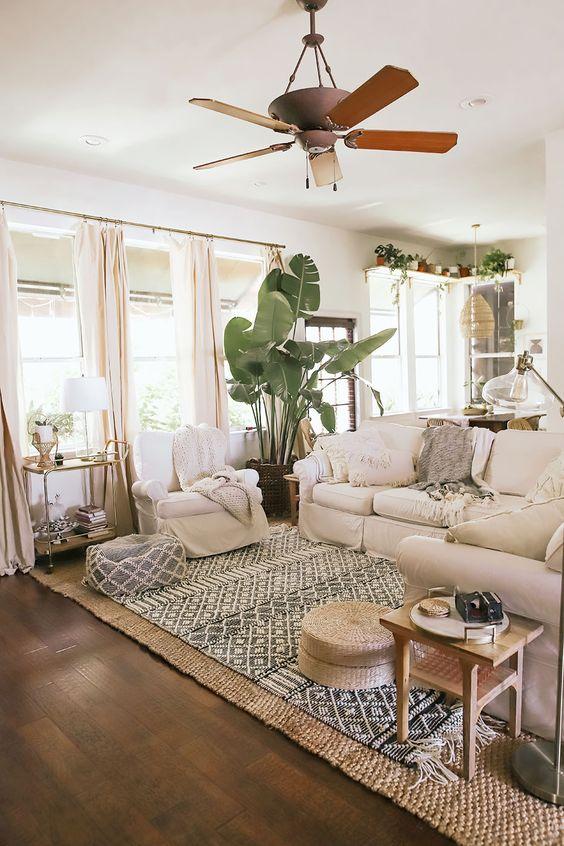 modern bohemian living room idea