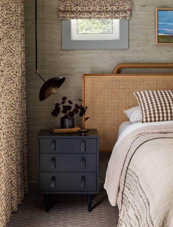 natural eclectic bedroom design