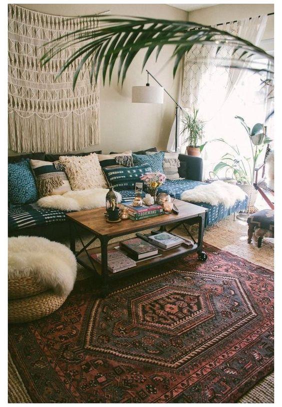 peaceful Bohemian living room