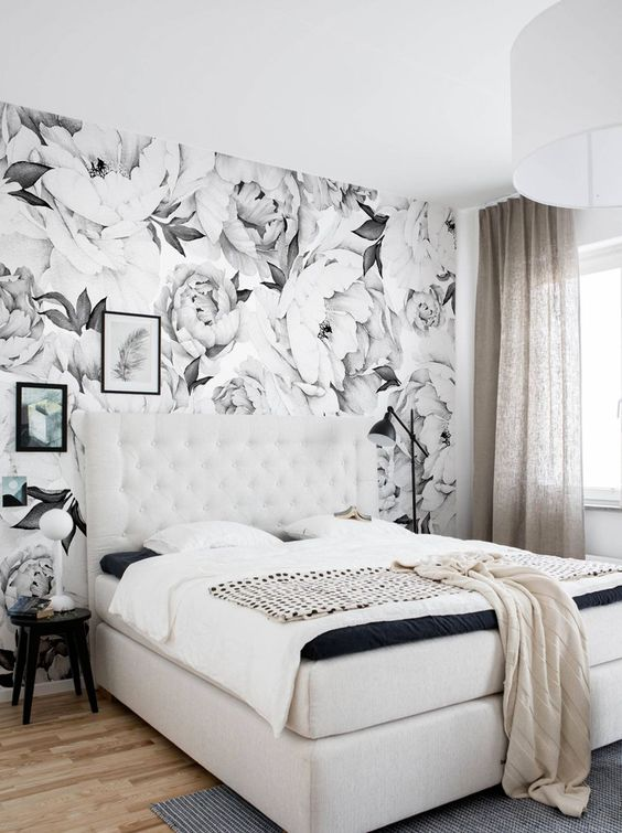 modern shabby chic bedroom decoration