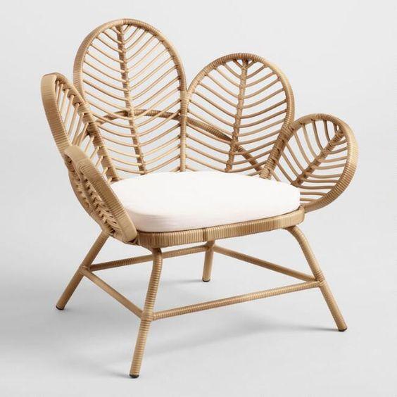 petal chair for tropical decoration