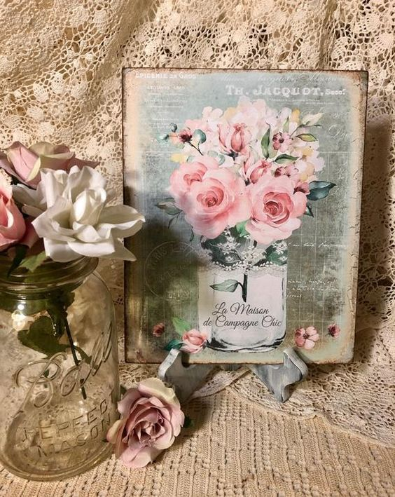 Pink Roses Bouquet In A Jar