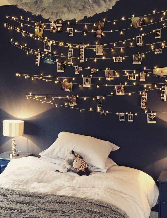 polaroid fairy lights idea