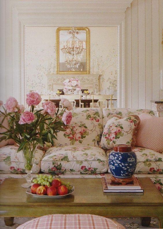 pretty glam pink shabby chic living room ideas
