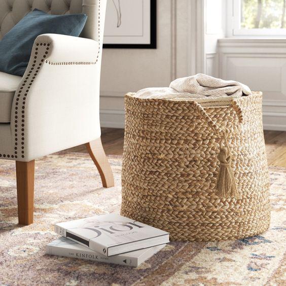 Rattan Basket for bohemian living room