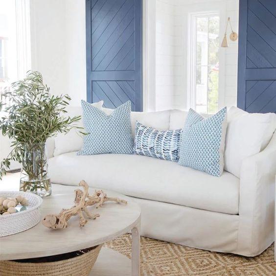 Ripple fabric for coastal bedroom