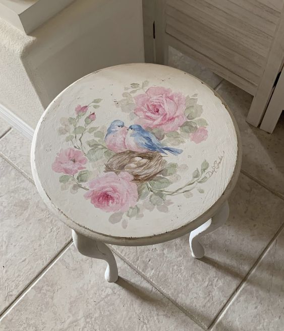 romantic vintage table for shabby chic furniture