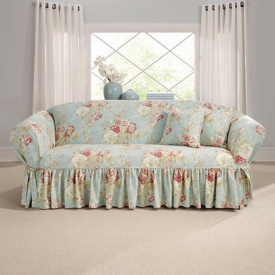 sofa with skirt for living room