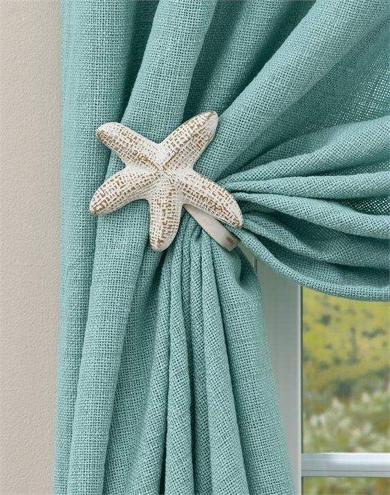 a starfish curtain tieback for coastal bedroom