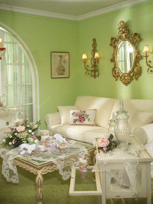 sweet shabby chic living room decor