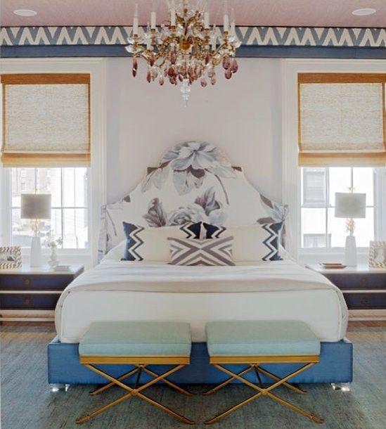 beautiful symmetrical eclectic bedroom idea