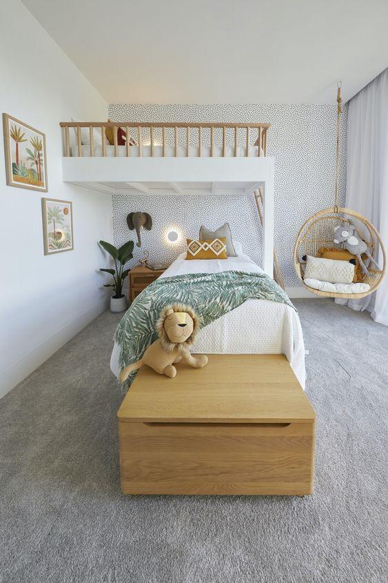a minimalist bedroom for kids