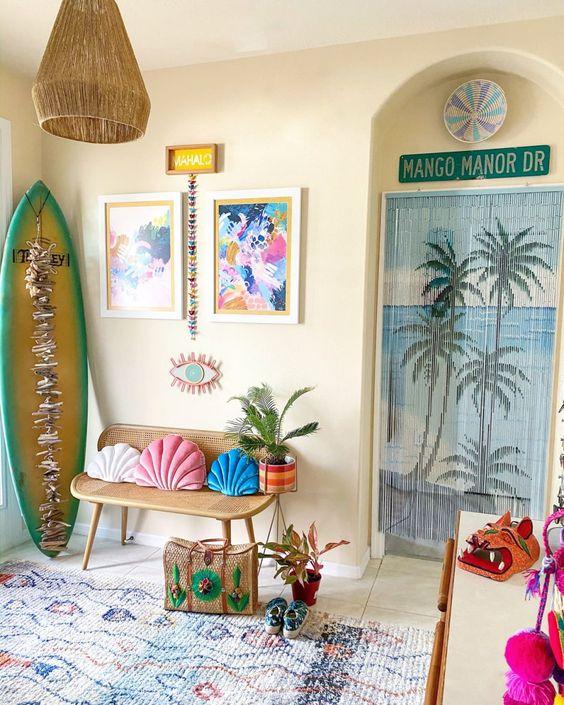 Tropical Bohemian Bedroom Ideas
