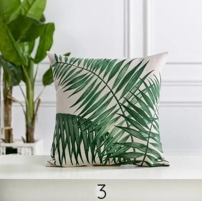 tropical printed throw pillow