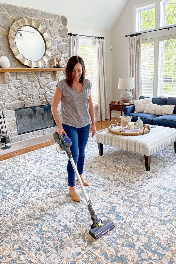 effective cleaning using vacuum cleaner