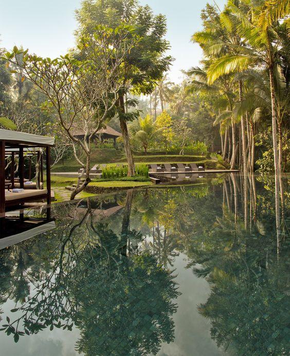 Balinese lush garden