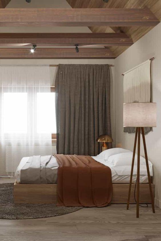 Scandinavian and Japanese inspired bedroom idea