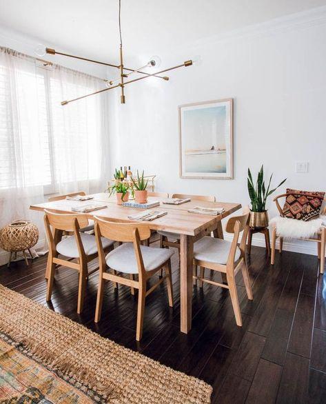cozy Scandinavian style combine with boho decor