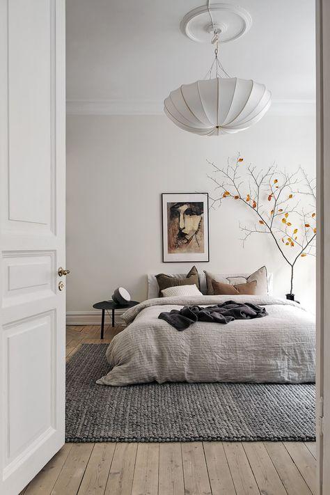 artistic Scandinavian bedroom ideas