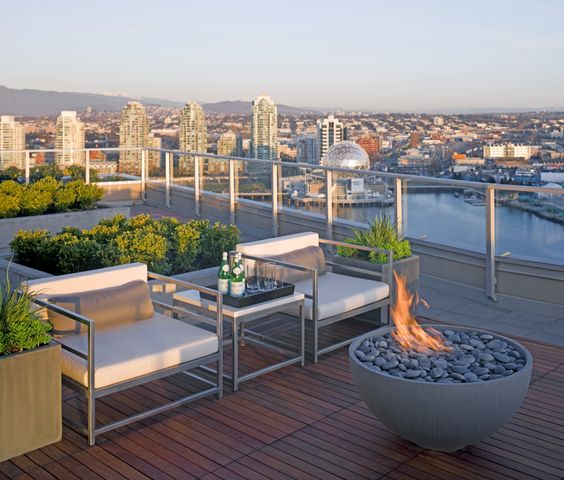 barbecue rooftop terrace idea