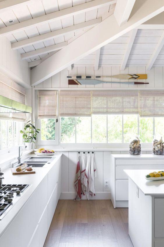 all around windows beach kitchen style