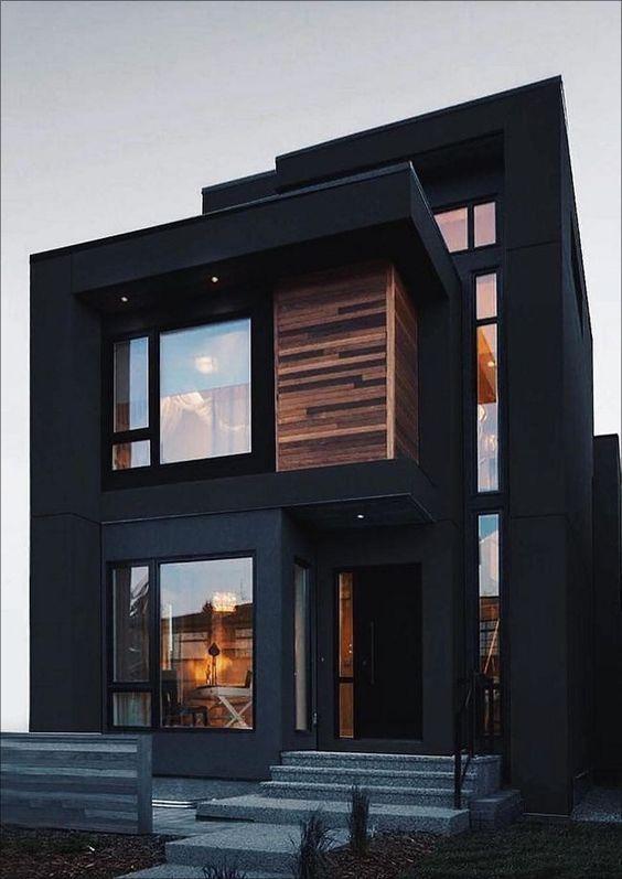 black two-storey house