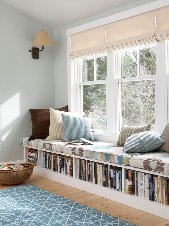 cozy reading nook with natural lighting