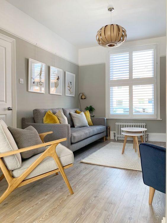 cozy small Scandinavian living room
