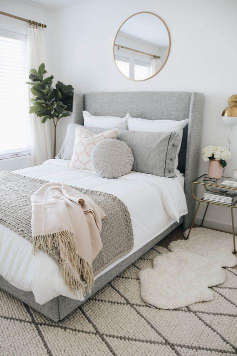 cozy small Scandinavian bedroom